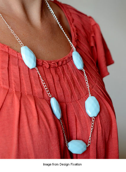 simple DIY necklace from Faith at Design Fixation