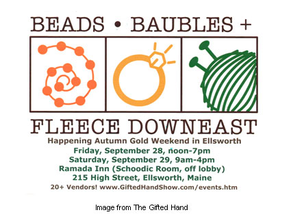 Beads, Baubles and Fleece Downeast logo
