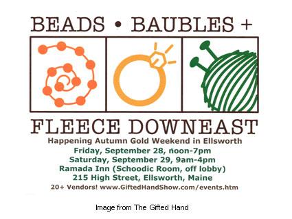 Beads, Baubles and Fleece Downeast logo