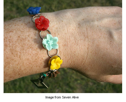 resin cabochon bracelet from Kadie at Seven Alive