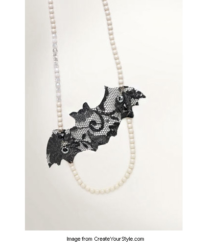 Glamorous Bat necklace from Design Your Style with Swarovski Elements