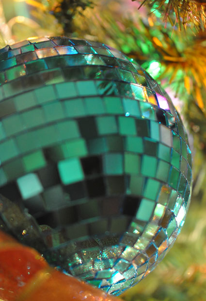 large mirrored tile ball - a disco ball for your tree!