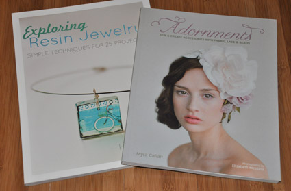 cover art of Adornments and Exploring Resin Jewelry