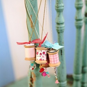 Vintage Spool Necklace