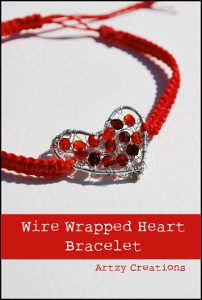 Wire Wrapped Heart Bracelet
