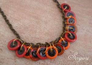 Fiery Disc Necklace