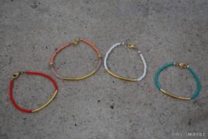 Beaded Tube Bracelet