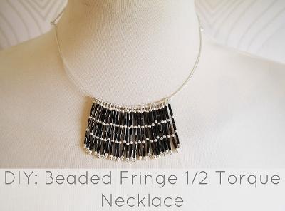 DIY Beaded Fringe Torque Necklace
