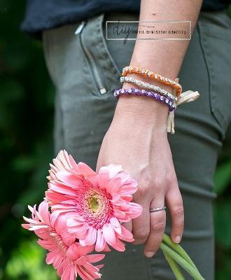 DIY Tory Burch Inspired Raffia Rhinestone Bracelet