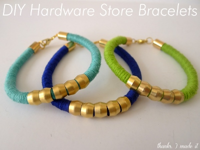 DIY Hardware Store Bracelets