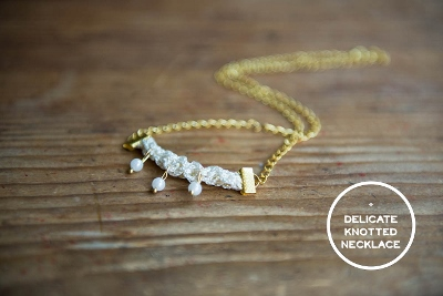 Delicate Knotted Necklace Tutorial