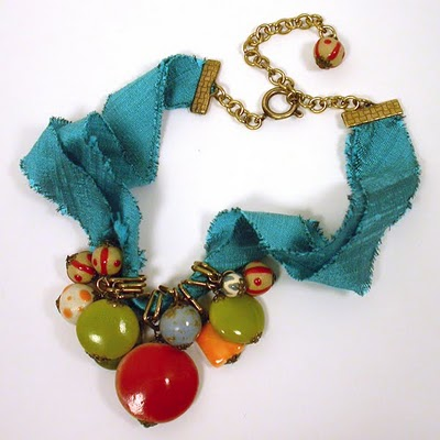 DIY- Frayed Ribbon Necklace
