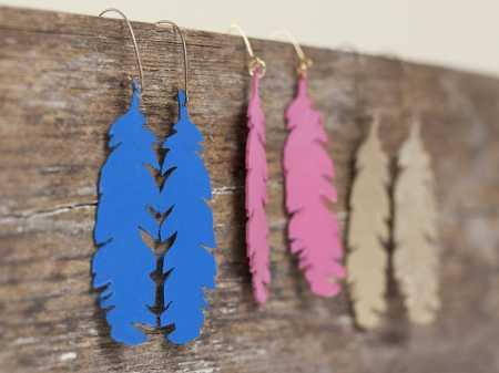 cricut-earrings-feather