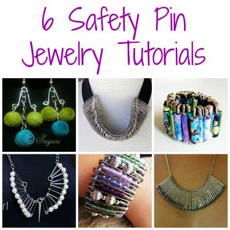 6 safety pin jewelry tutorials for Safety pins for jewelry making