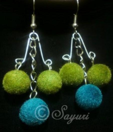 safety pin dangler earring
