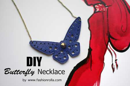 DIY Leather Butterfly Necklace by Xenia Kuhn