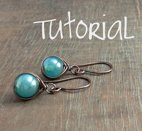 simple herringbone weave earrings tutorial