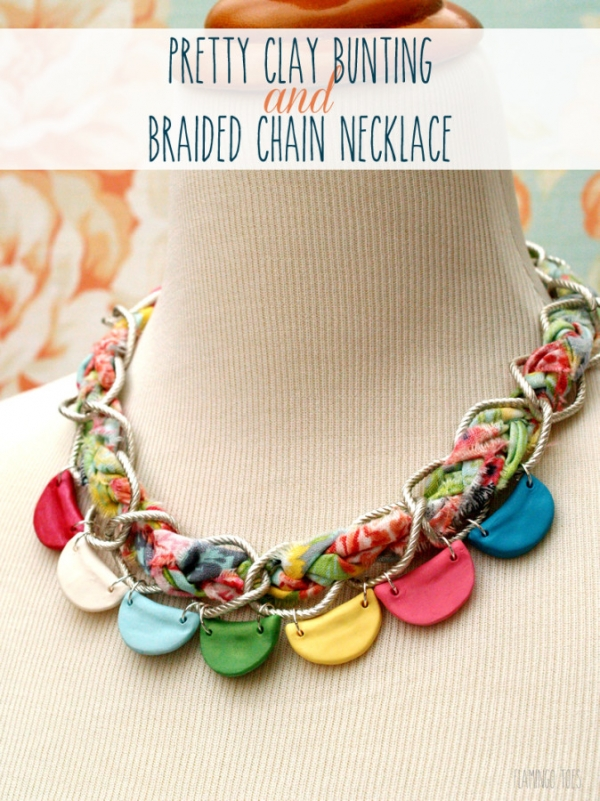 Pretty-Clay-Bunting-and-Braided-Chain-Necklace