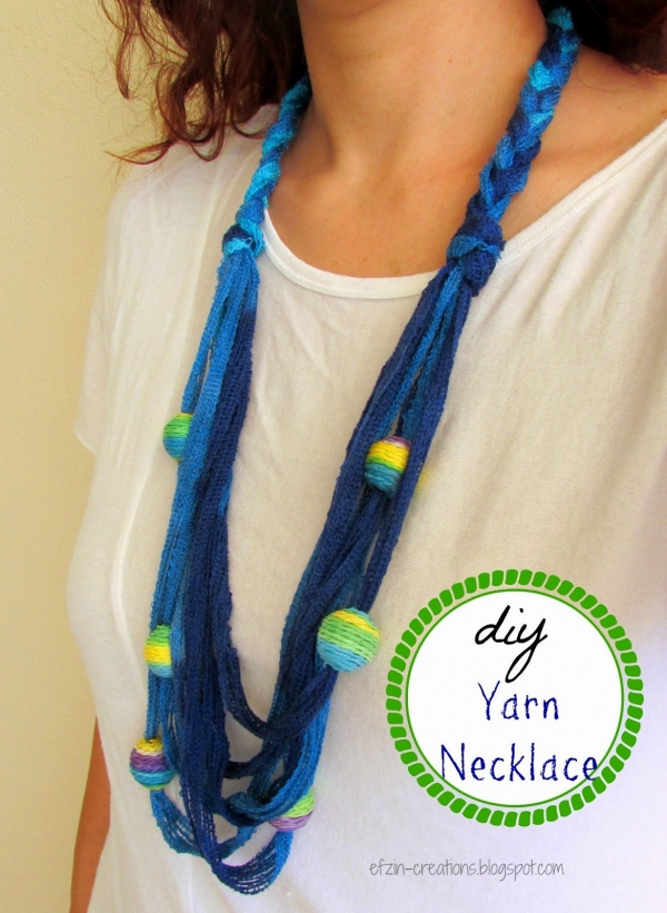 diy yarn necklace