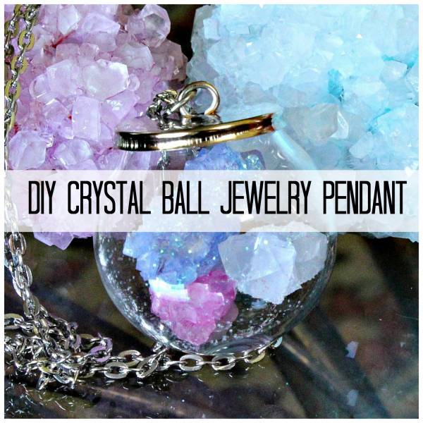 Resin Faux Crystal Wire Wrapped Pendant Necklace Diy: Making Your Own Crystals For A Crystal Ball Jewelry Pendant