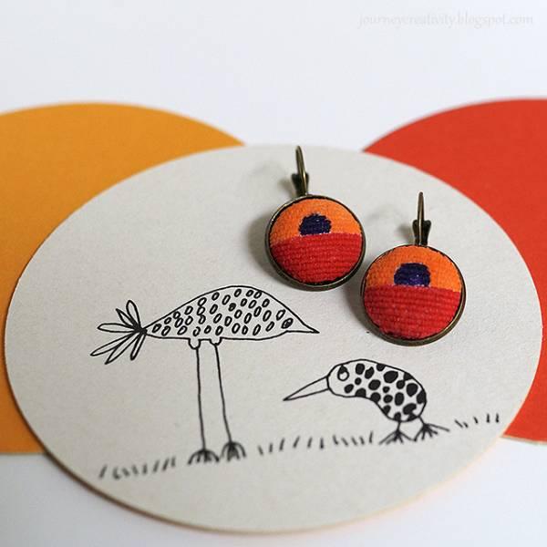 DIY Painted Fabric Earrings