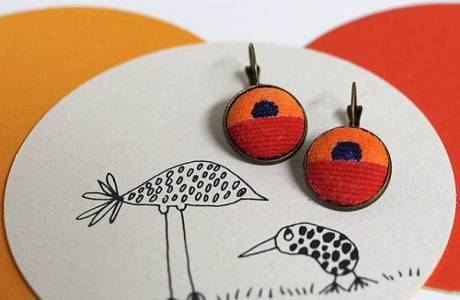 DIY Painted Fabric Earrings