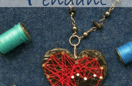 String Art Heart Necklace