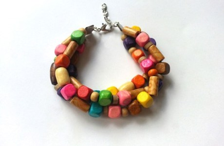 Wooden Gypsy Bracelet