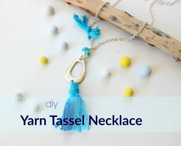 Yarn Tassel Necklace Tutorial
