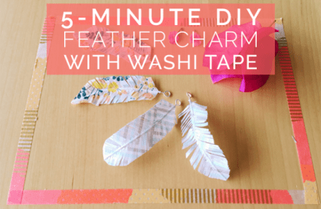 5-Minute DIY: Feather Charms with Washi Tape