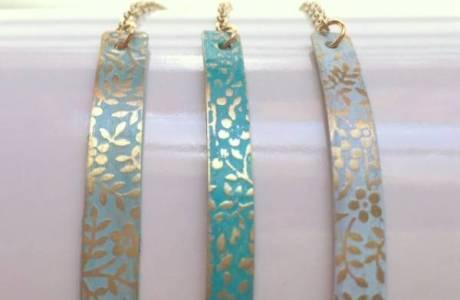 Pressed Brass Enamel Bracelets