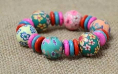 Simple Polymer Bead Bracelet