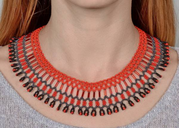 Beaded african necklace pattern for How to make african jewelry crafts