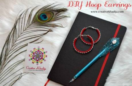 DIY Wool Thread Wrapped Hoop Earrings