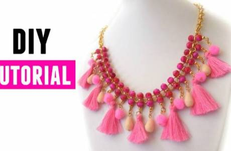 DIY Tassel Statement Necklace Tutorial
