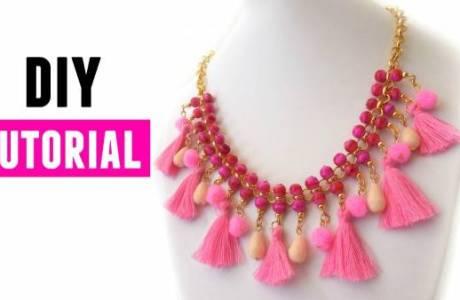 DIY Tassel Statement Necklace Tutorial