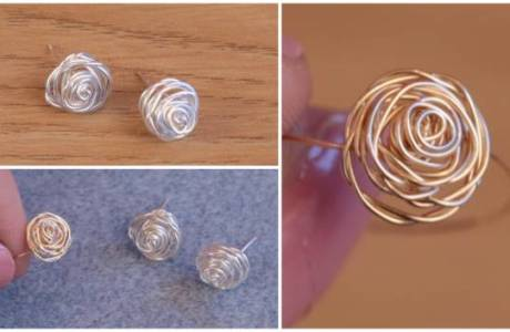 DIY Wire Wrapped Rose Jewelry