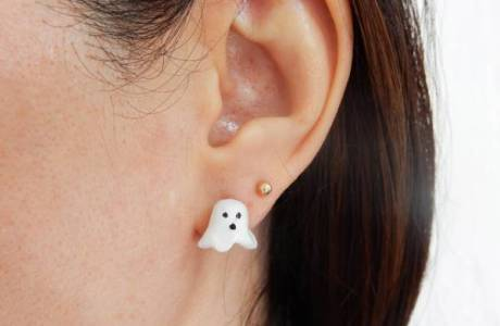 DIY Ghosts Stud Earrings