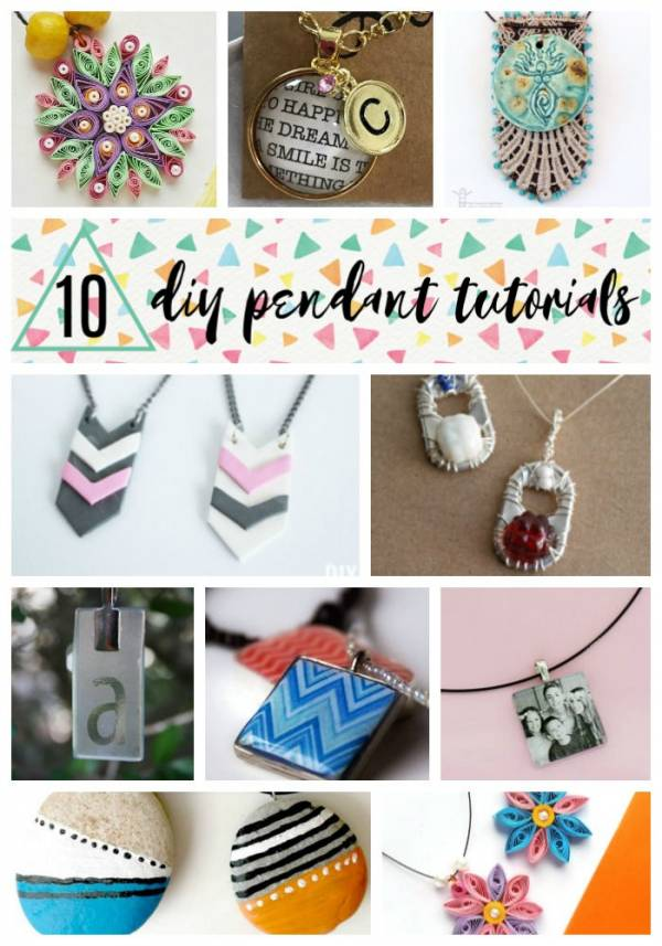 10 Jewelry Pendants You Can Make Yourself