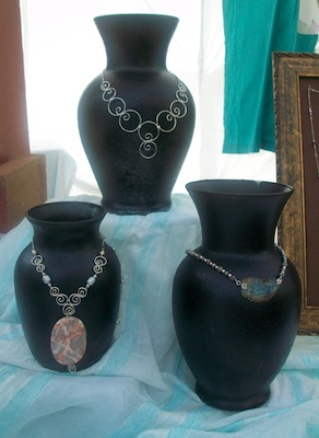 Vase Necklace Displays