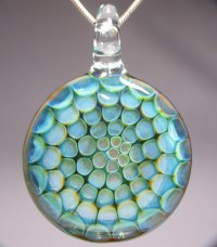 Honeycomb Blown Glass Pendant  Jewelry Making Journal