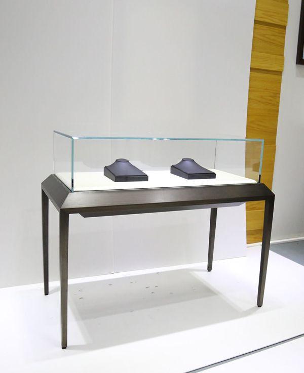 Sit Black Glass Top Jewelry Display Case Showcase Depot