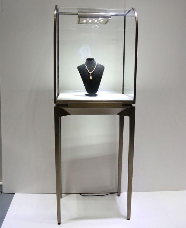 Free Standing Temper Glass Jewellery Display Showcase Jewelry Depot