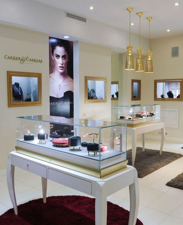 High End White Jewelry Display Showcases Showcase Depot