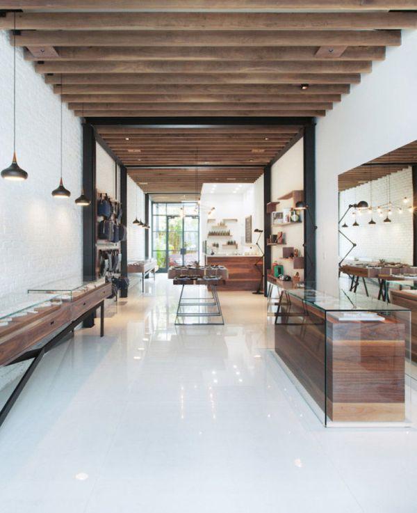 Glass Wooden Veneer Jewelry Store Displays