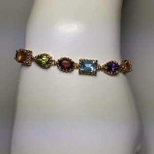 Multi-Color Gemstone Bracelet front view