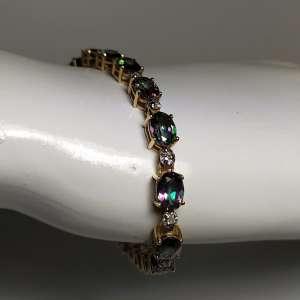 Color-Changing Topaz & Diamond Bracelet