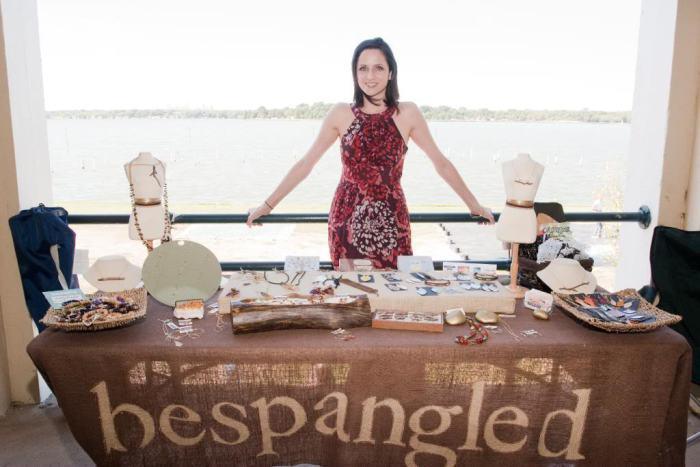 bespangled jewelry craft show booth