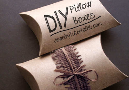 DIY kraft pillow boxes tutorial