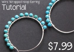 Wire Wrapped Hoop Earring Tutorial